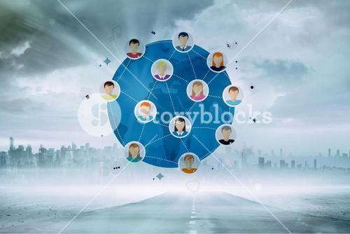 Composite image of online community
