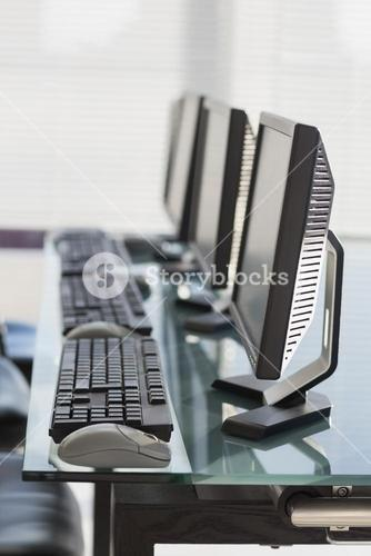 Computer with headsets