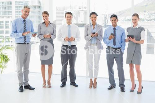 Business people using their phone