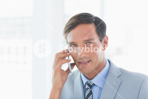 Business man having phone call
