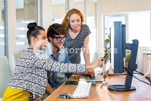 Professional designers working on computer