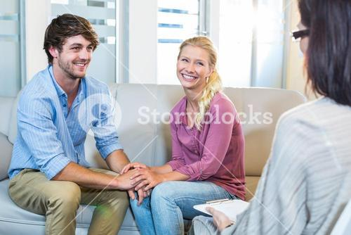 Psychologist and happy couple