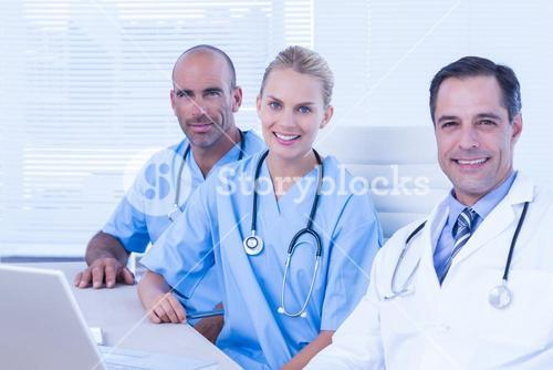 Teams of doctors working together