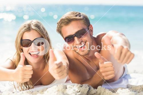 happy couple thumbs up