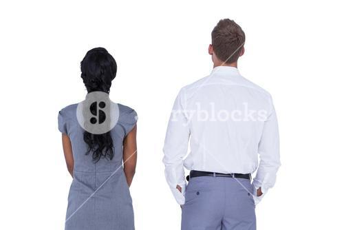 Wear view of business people