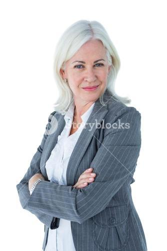 Confident businesswoman arms crossed