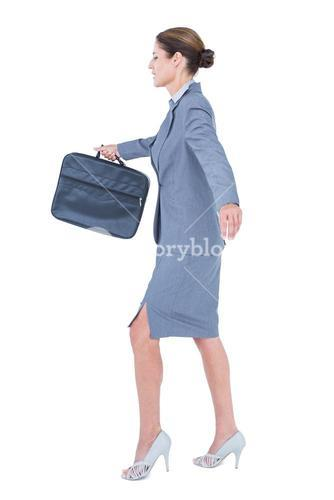 Businesswoman with high heels