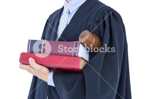 lawyer holding scales of justice