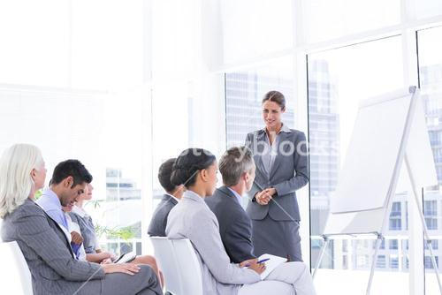 Business team having a meeting
