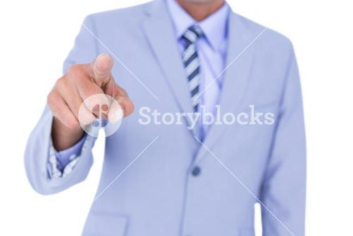 Handsome businessman gesturing with hands