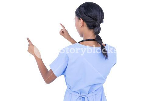 young doctor gesturing with hands