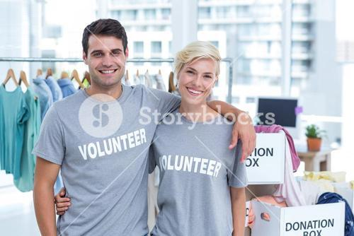 Happy couple of volunteer