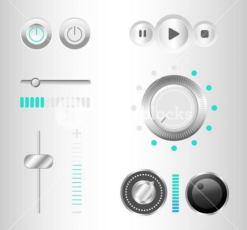 Music playing interface vector