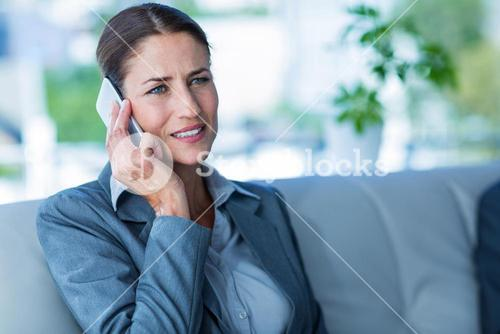 Businesswoman having a phone call