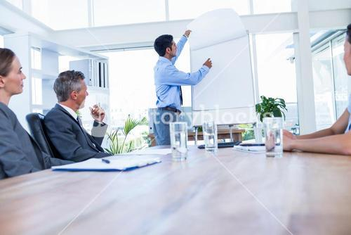 Business people listening during a meeting