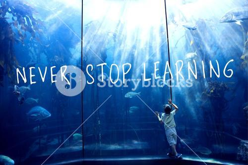 Composite image of never stop learning
