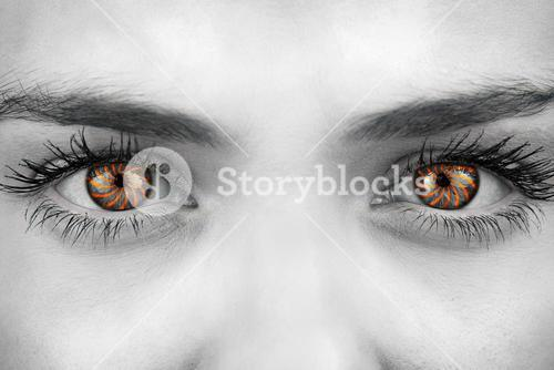 Composite image of blue eyes