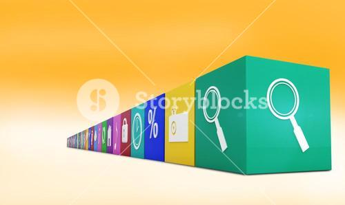 Composite image of row of apps