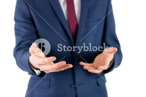 Close up view of businessman hands
