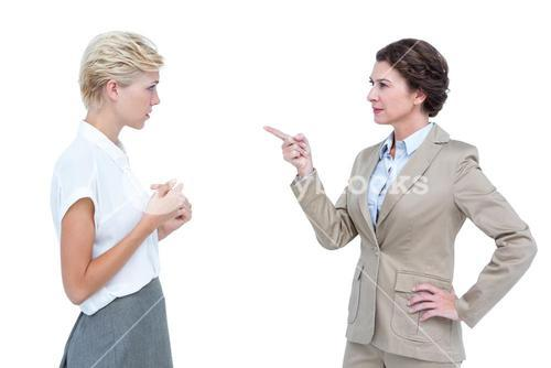 Businesswomen having a violent debate in office