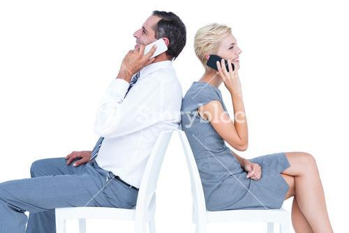 business people having phone call