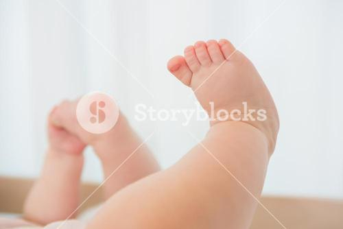 Beautiful foot of baby