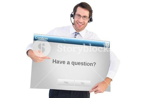 Composite image of happy businessman showing card to camera