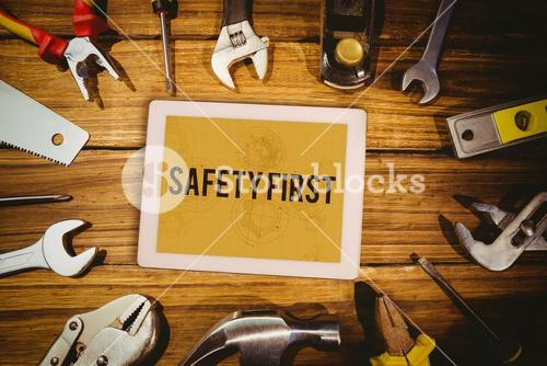 Safety first against architect background