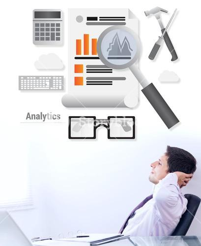 Composite image of business analytics
