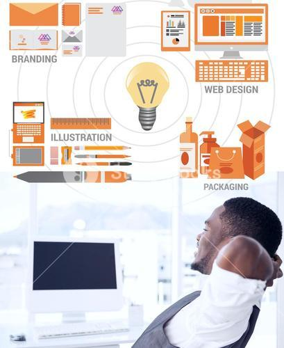 Composite image of business graphics