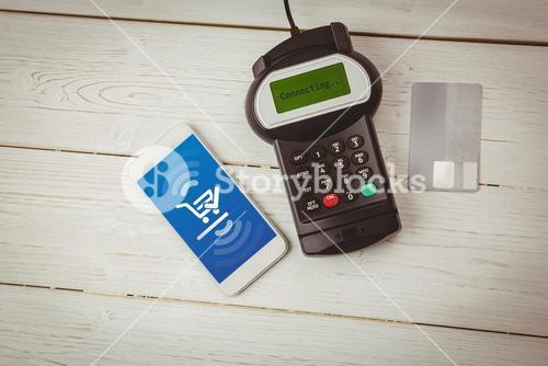 Composite image of payment screen