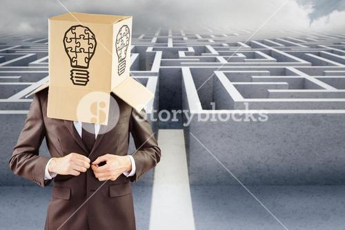 Composite image of anonymous businessman buttoning his jacket
