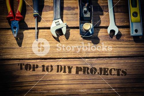 Top 10 diy projects against desk with tools