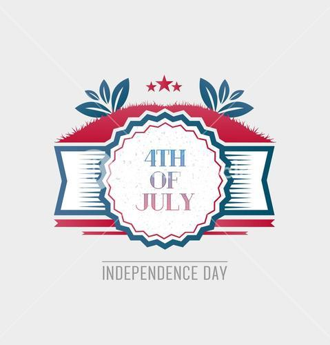 Patriotic fourth of july vector