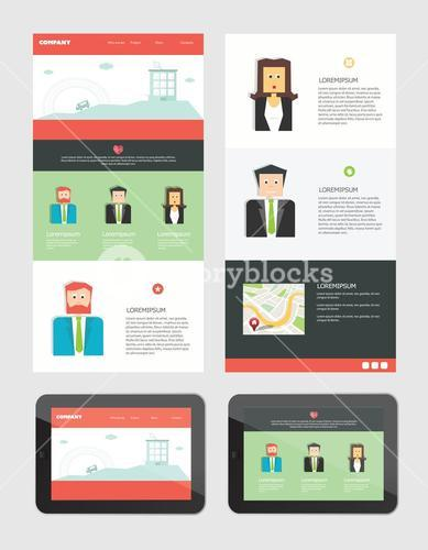 Business cards interface vector