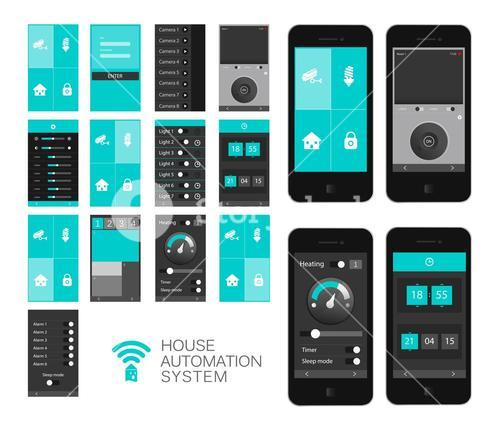 Home automation app interface