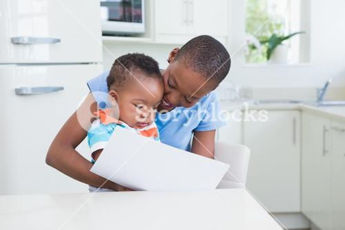 Happy smiling woman with his babyboy