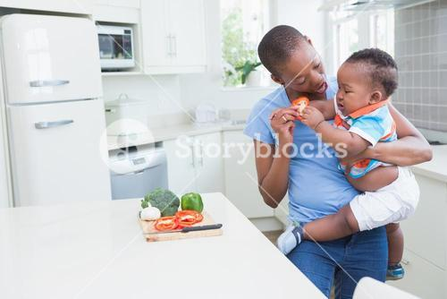 Happy smiling mother with his babyboy