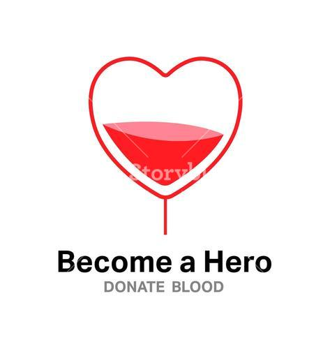 Become a hero donate blood vector