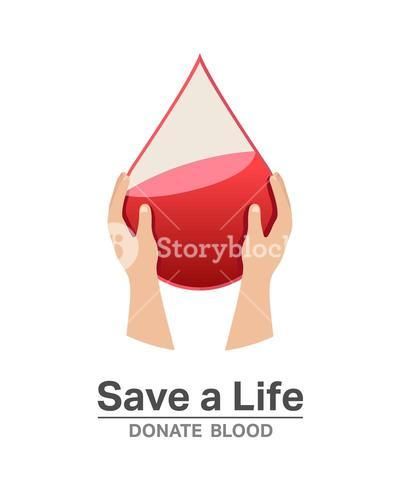 Save a life donate blood vector