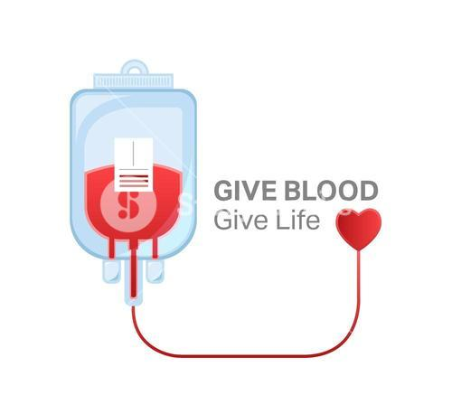 Give blood give life vector