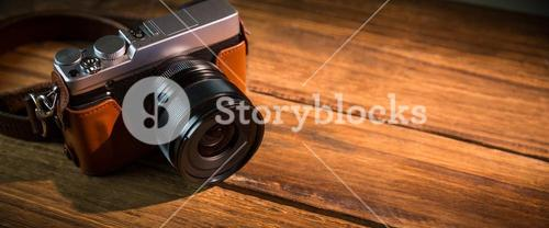 A beautiful brown fashioned camera