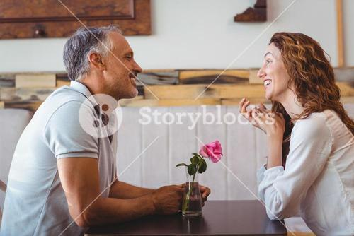Cute couple on a date