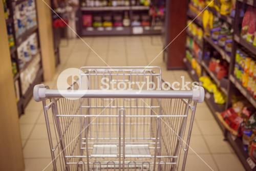 Close up view of trolley