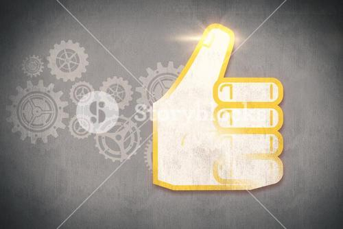 Composite image of thumbs up