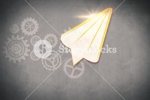 Composite image of paper airplane