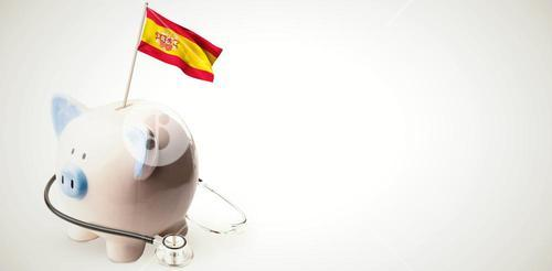 Composite image of digitally generated spain national flag
