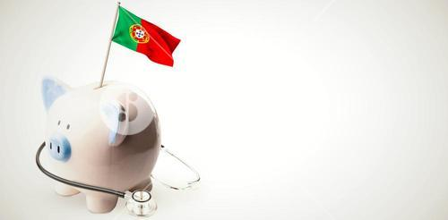 Composite image of digitally generated portugal national flag