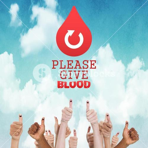 Composite image of blood donation