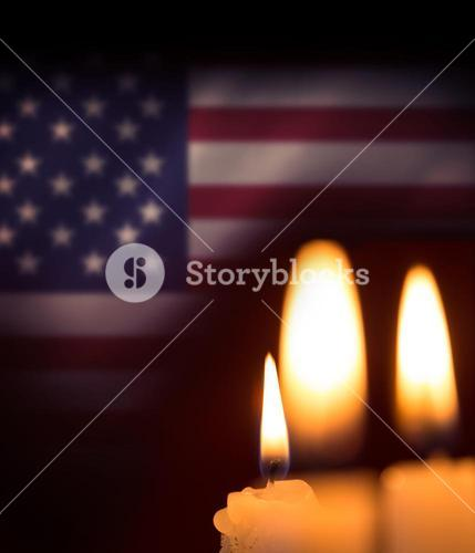 Composite image of candles soft light